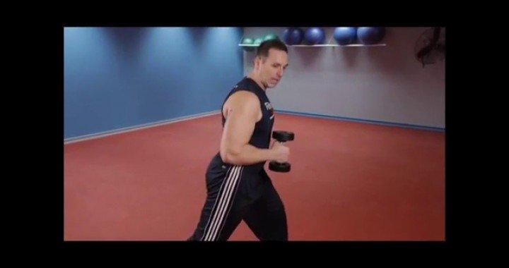 Best Tricep exercises:  Tricep Dumbbell Kickbacks