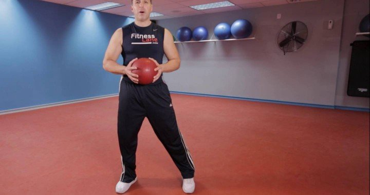 Body Weight Squats With Medicine Ball