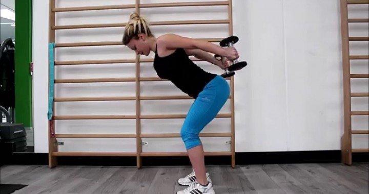 Best Tricep exercises for women: Tricep Kickbacks with Dumbbells