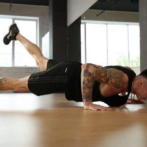Push up with Single leg Raise Exercise